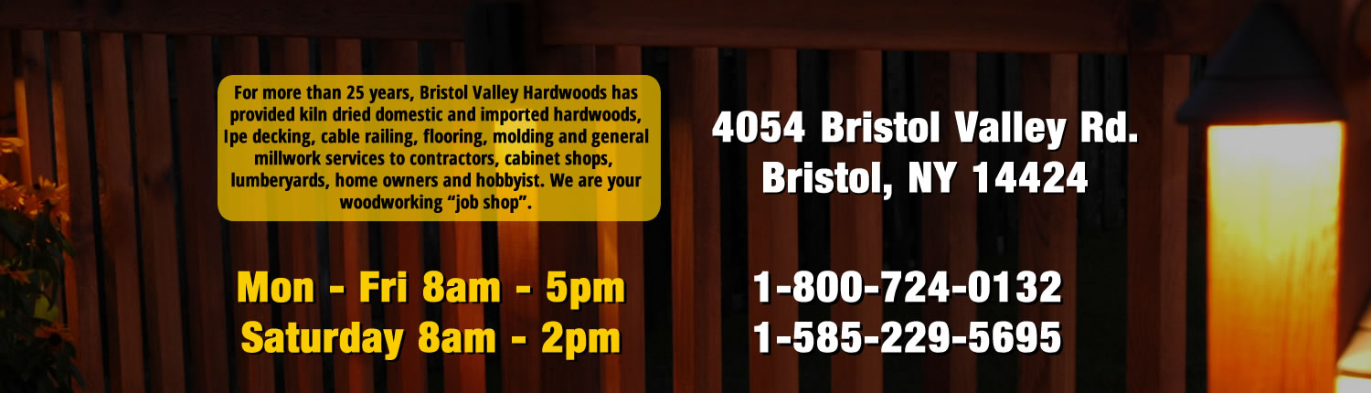 Bristol Valley Hardwoods – Hardwoods & Speciality Wood Products