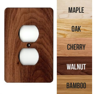 Hardwood Wallplates